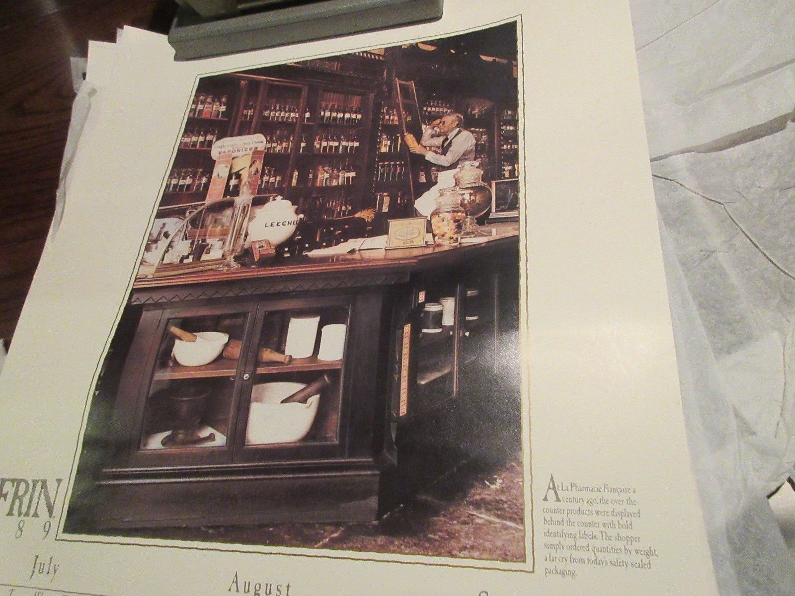 """Rx ,Pharmacy , POSTER ,18"""" X 24"""" ,Photographs Depicting History & Heritage ,1989 image 5"""