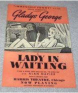 Harris Theater Chicago Handbill Gladys George in Lady in Waiting - $39.95