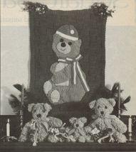 Crochet Xmas Santa Bear Wall Hanging Mistletoe Holiday Soccer Afghan Patterns - $6.99
