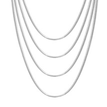 Wholesale Lots 5PCS Unisex 925 Sterling Silver Snake Chain Necklace DIY ... - $11.62