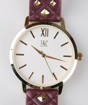 I. N.c. Mujer Color Dorado Relieve Piel Sintética Correa Tachuelas 38mm Reloj +