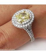 Double Halo Oval Cut Diamond Simulants Wedding Ring Set - Sterling Silve... - $90.00