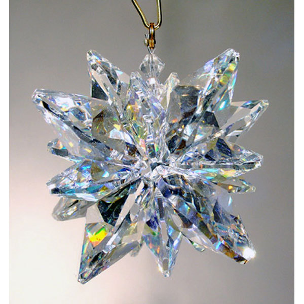 Clear Crystal Snowflake Ornament