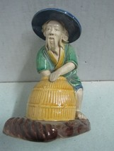 Antique Chinese man Chine in terracotta potery Figure statue - $35.18