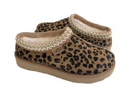 UGG TASMAN LEOPARD NATURAL SHEARLING LINED MOCCASIN SHOE US 6 / EU 37 / ... - $111.27