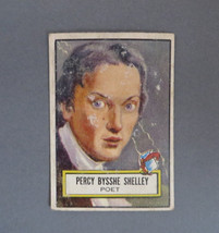 TOPPS 1950s Look 'n See Card, Percy Bysshe Shelley, Card No. 114, Famous... - $10.00