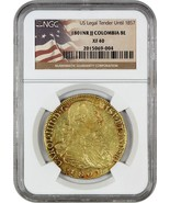 Colombia: 1801-NR JJ 8 Escudos NGC XF40 (KM# 62.1) - Colombia - .7614 oz... - $2,104.90