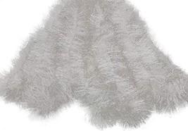 Holiday Times Thick Tinsel Christmas Garland 15' Frosty White - $15.95