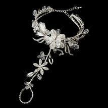 Rhinestone Flower Barefoot Sandal Bridal Foot Jewelry Beach Destination ... - $78.80+