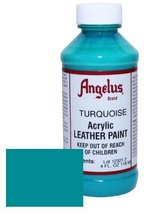 Angelus Leather Paint 4oz-Turquoise - $4.21