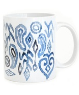 Ceramic mug blue shapes design thumbtall