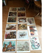 """US MARINE CORPS COMBAT Lithographs Posters 20x16"""" Art Collection (15) Total - $199.99"""