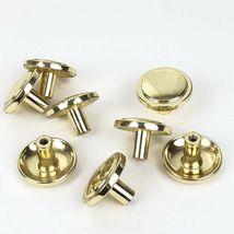 Vintage Knobs Pulls Polished Gold Tone Metal Patina 8 Pc Lot Drawer Cabinet  image 3