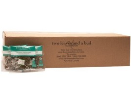 Two Leaves and a Bud Organic Peppermint Herbal Tea, 100-Count