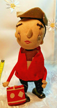 "Vintage Stockinette Doll Christmas Drummer Made in Japan by Noel 10""  image 1"
