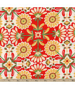 The Sultan's Garden Flowers 100% cotton Fabric by the yard - $5.89