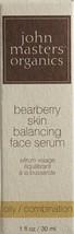 John Masters Organics Bearberry Oily Skin Balancing face Serum  - 1 oz /... - $16.08
