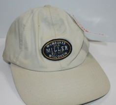Baseball Cap Miller Beer Milwaukee Wisconsin Tan Strapback - £13.72 GBP