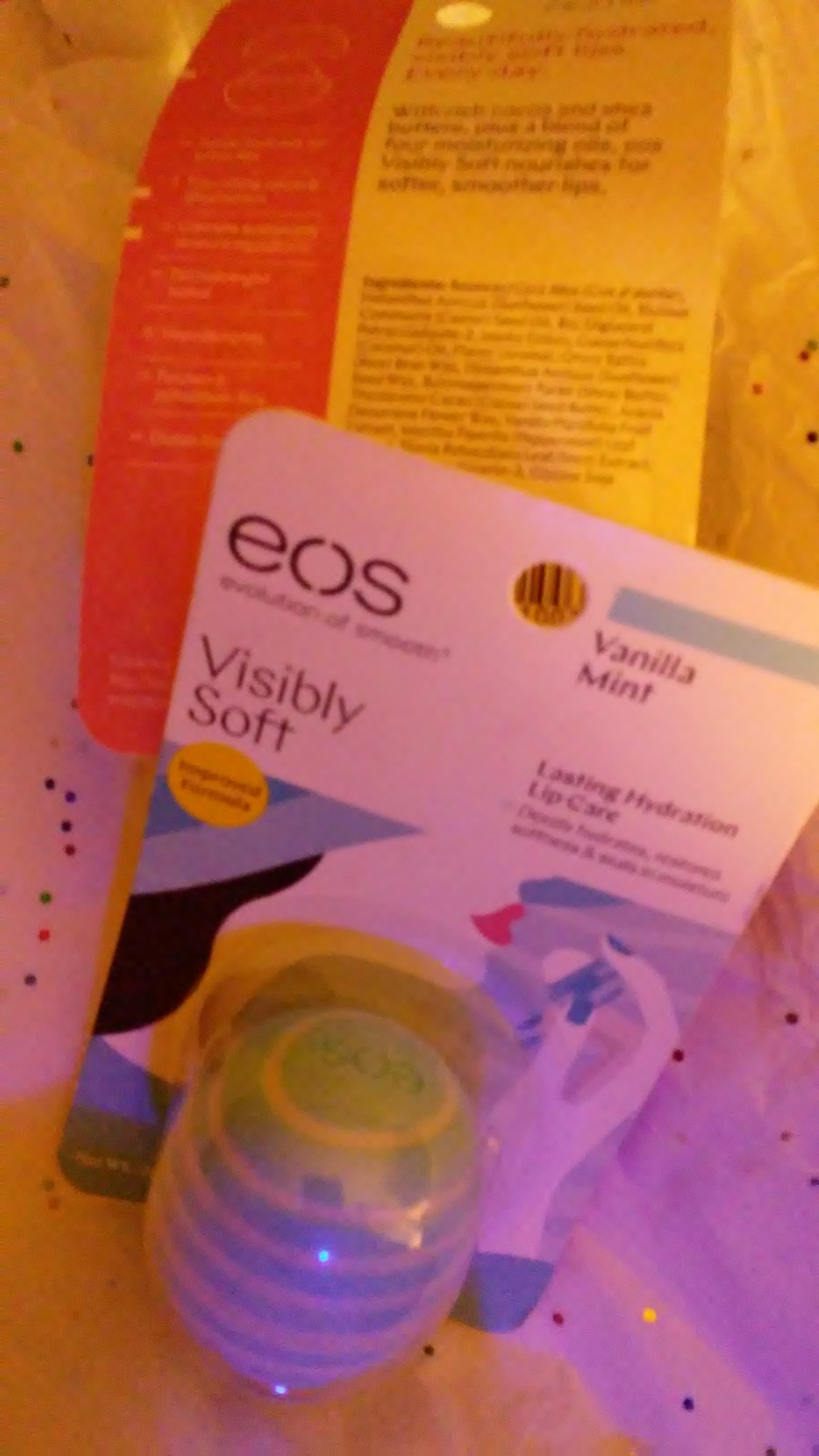 New EOS Vanilla Mint Lip Care 2 Packs evolution of smooth Visibly Soft .25oz