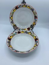Vintage Mary Engelbreit Afternoon Tea Sakura Qty 2 Cereal Soup Bowls 7.5... - $17.75
