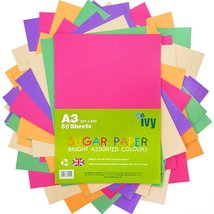 Sugar Paper A3 - Coloured Pages - 50 x Sheets - 100gsm - 21003 - Made in... - $10.99