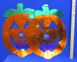 2 Halloween Pumpkin Wall or Ceiling Hangings Decor Ghost Jack O Lantern Bat - £8.96 GBP