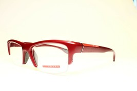 NEW AUTHENTIC PRADA VPS 04E SME-1O1 RED EYEGLASSES FRAME RX 53-18 145 - $88.11