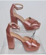 Women's Sydney Platform Sandal Heels - Satin Pink - 7.5 Who What Wear - $16.99