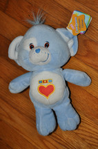"2003 Care Bears Cousins 11"" Blue LOYAL HEART DOG Plush Play Along - $12.99"