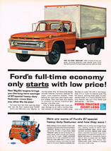 Vintage 1962 Magazine Ad For Ford Trucks Special Heavy Duty Features = S... - $5.93