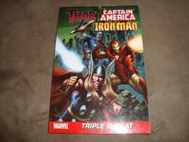 Marvel Triple Threat Comic Book Iron Man Thor Captain America Trade Pape... - $3.59
