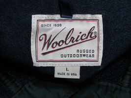 Woolrich Snap-T fleece jacket USA Made Navy Blue Mens Size L image 6