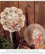 Hats Off! Shell Stitch & Lacy Bonnet Vanna Doll Crochet PATTERN/INSTRUCTIONS/NEW - $1.77