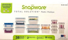 Snapware Total Solution Easy Stacking PLASTIC Storage Containers 38 piec... - €28,15 EUR