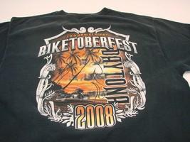 Harley Davidson Biketoberfest Daytona Beach Florida 2008 Black XL Tee Vintage  - $10.85