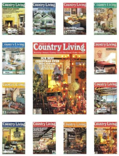 Primary image for (12) COUNTRY LIVING-1992-JANUARY-DECEMBER-COUNTRY STYLE DECORATING/ REMODELING