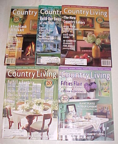 Primary image for (5) COUNTRY LIVING-1998-JANUARY-MAY-COUNTRY STYLE  DECORATING/REMODELING IDEAS