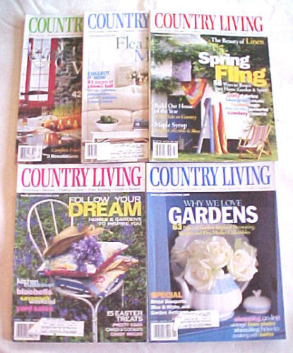 Primary image for 6) COUNTRY LIVING-2000-JANUARY-JULY-COUNTRY STYLE  DECORATING/REMODELING IDEAS