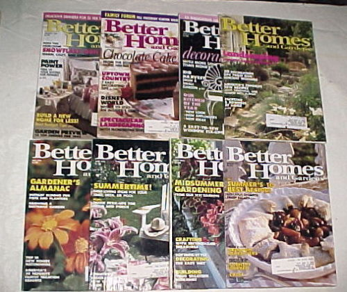 Primary image for BETTER HOMES AND GARDENS 1993-JANUARY-AUGUST-QUILTS,GARDENS,DECORATING;8 ISSUES