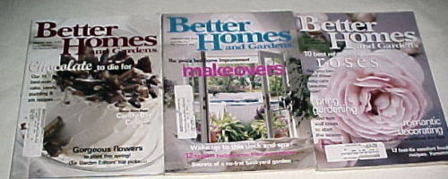 Primary image for BETTER HOMES AND GARDENS 2000-JANUARY,FEBRUARY,MARCH;DECORATING,GARDENS-3 ISSUES