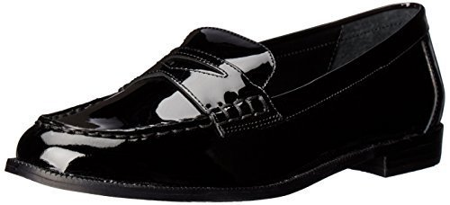Lauren Ralph Lauren Women's Barrett Penny Loafer, Black Patent Leather, 5.5 B US