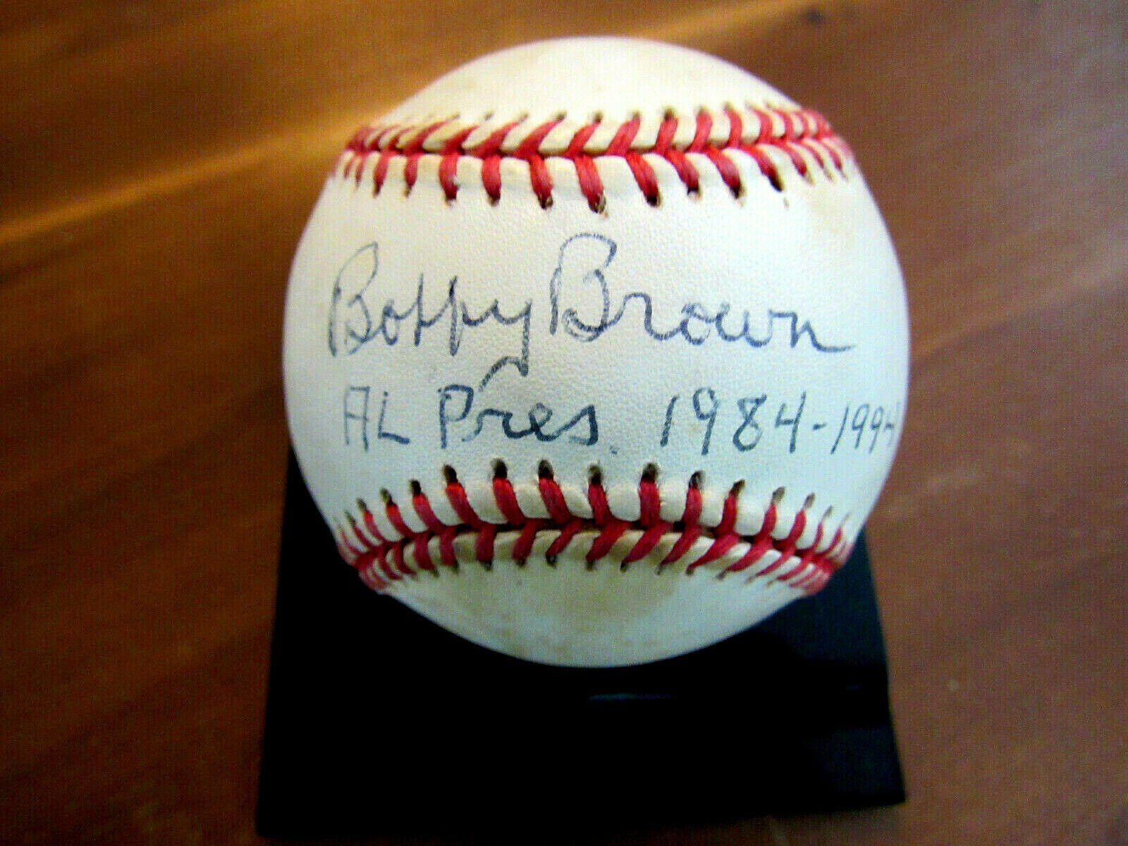 Primary image for BOBBY BROWN AL PRES 1984-1994 YANKEES SIGNED AUTO BROWN GAME USED BASEBALL JSA