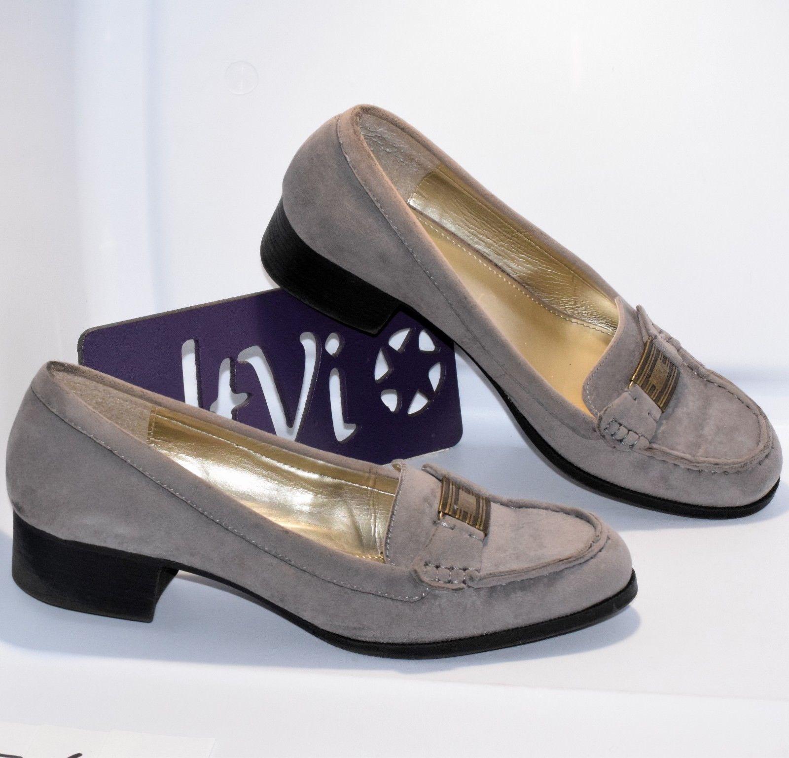 36c65c6eecb Chaps 8B  Percy  Slip-on low block heel loafer oxford Ralph Lauren round