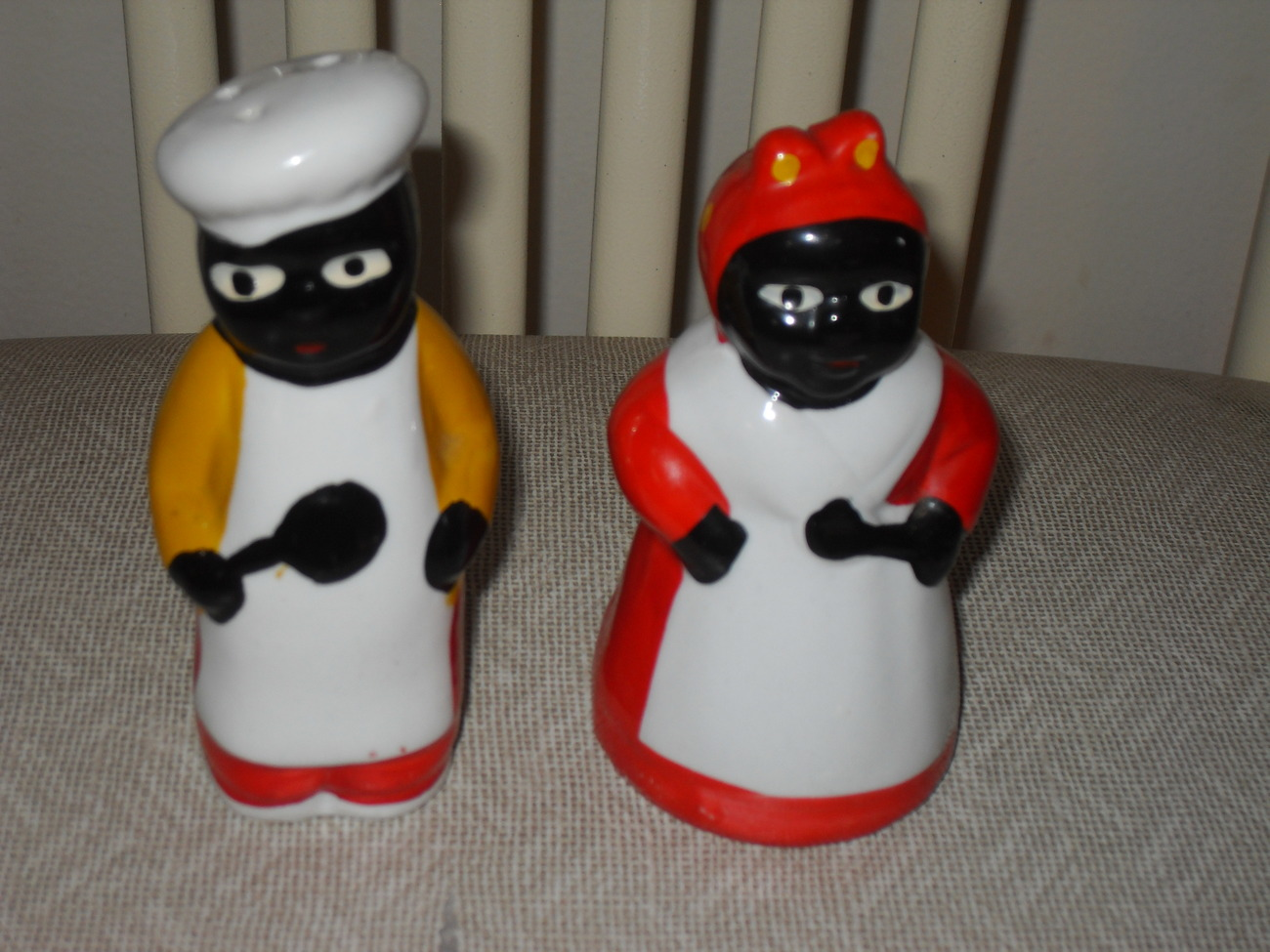 Primary image for Vintage Aunt Jemima & Chef  Salt & Pepper Shakers