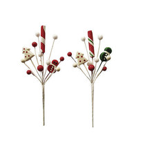 Candy Cane Christmas Pick: 3 x 8.5 inches w - $5.99