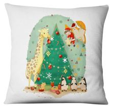 Christmas Throw Pillow Home Decoration Soft Fabric & Fill Cotton for Sof... - $16.99