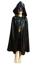 Zhong Min Kids Silk Costume Hooded Cape Masquerade Cloak Medium Med M NEW - $8.90