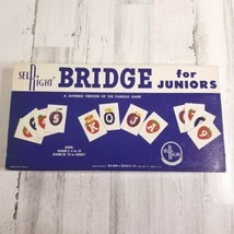 Vintage Board Game Bridge for Juniors Selchow & Righter COMPLETE 1960 USA - £17.62 GBP