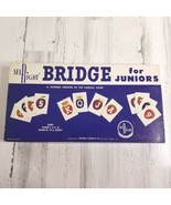 Vintage Board Game Bridge for Juniors Selchow & Righter COMPLETE 1960 USA - $24.24