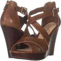 Jessica Simpson Jakayla Wedge Sandals 209, Sunkissed Brown, 7 US - $32.63